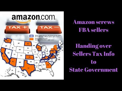 Amazon to screw FBA sellers. Hands over Tax Info to Government