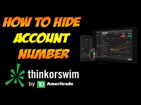 How To Hide Account Number In ThinkOrSwim (TOS) TD Ameritrade Platform