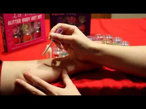Create your own custom glitter tatttoo design