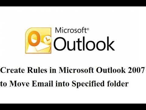 Create Rules in Microsoft Outlook 2007 to Move Email Into Specified Folder in bangla