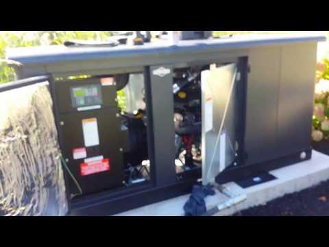 Briggs and Stratton 48KW propane generator start up
