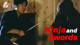 How did the ninja defend themselves with a sword?