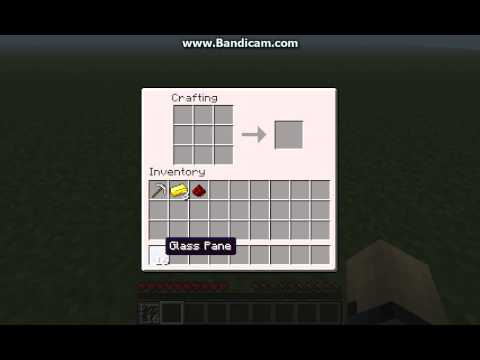 Minecraft- How to make Glass Panes