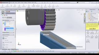 SpaceClaim Tutorial on Rack and Pinion Gears: Assembly