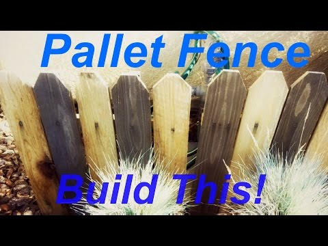 How To Build A Pallet Fence Fast!! Landscaping Fence