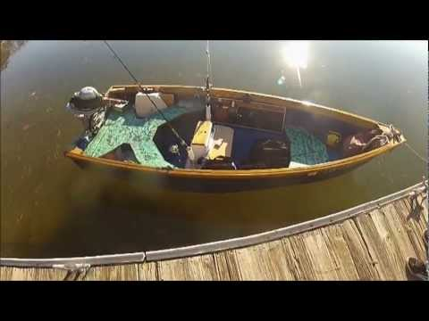 Home-made ALL Electric Boat ~ Angle Grinder ~ Electric outboard motor ~ Electric Helm Streeing