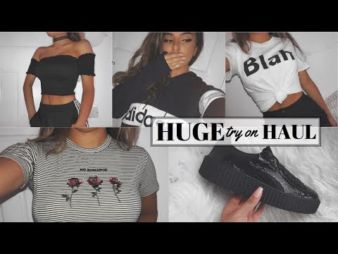 HUGE TRY ON CLOTHING HAUL |  2017