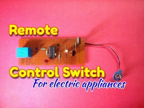 IR Remote Controlled Switch..Simple Remote Control Circuit Diagram.Easily Make IR sensor circuit...