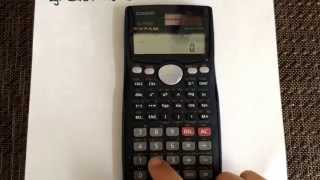 Converting From Degrees To Radians Using The Calculator Casio Fx 991ms