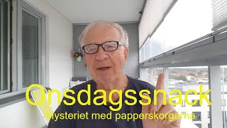 2020-07-01 ONSDAGSSNACK Mysteriet med papperskorgarna
