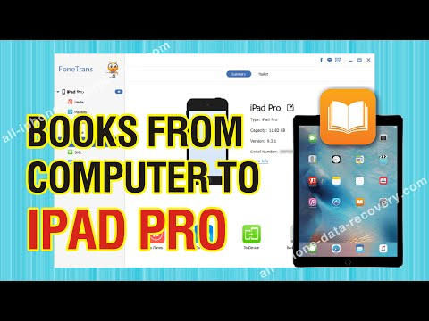 How to Transfer Books from Computer to iPad Pro; Import Book to iPad Pro