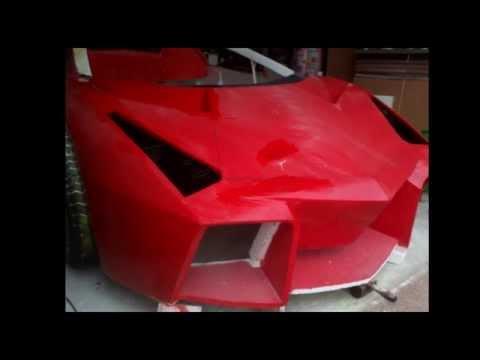 How to build a Lamborghini Reventon from foam P.6