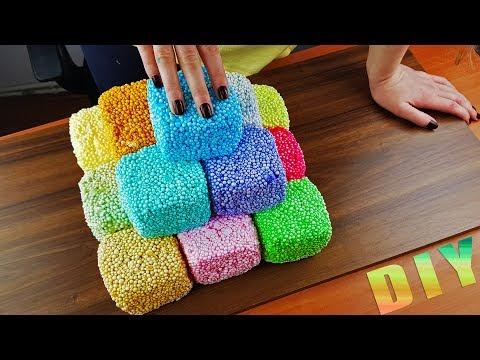 Crunchy Floam Slime Pyramid Crushing 😁