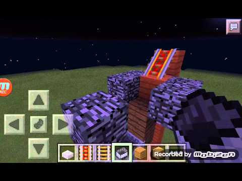 How to build a flying Minecart!!! In minecraft pe