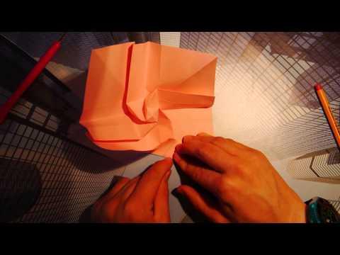 Tsuru Kawasaki Rose Crane by Satoshi Kamiya - Full Origami Tutorial