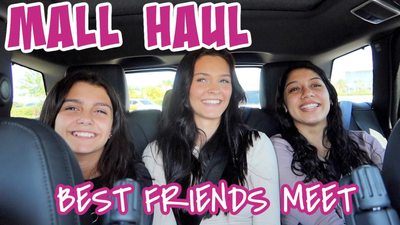 MALL SHOPPING TRIP/CLOTHING HAUL! MY BEST FRIENDS MEETING EACH OTHER! EMMA AND ELLIE