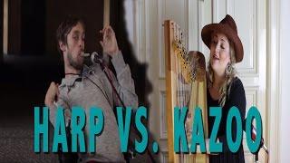 Harp vs. Kazoo: A Street Music Experiment
