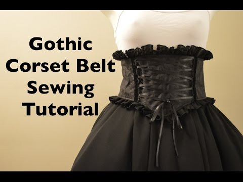 Gothic Mini Corset Belt Sewing Tutorial with Pattern