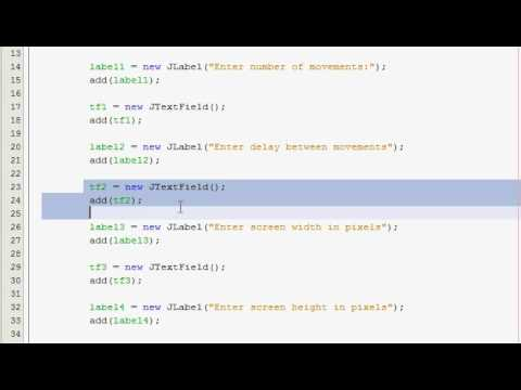 Java GUI Tutorial 12 - Virus mouse mover (Part 2)
