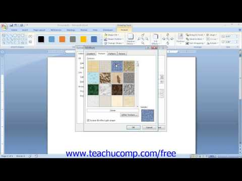 Word 2007 Tutorial The Format Shape Dialog Box-2007 Only Microsoft Training Lesson 13.9