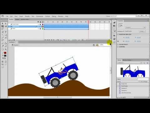 Flash Motion Tween: Jeep Moving Across the Desert (part 3 of 3)