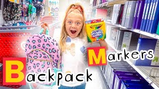 Download 6 Year Old Everleigh Goes School Shopping In Alphabetical Order!!! - Challenge Video