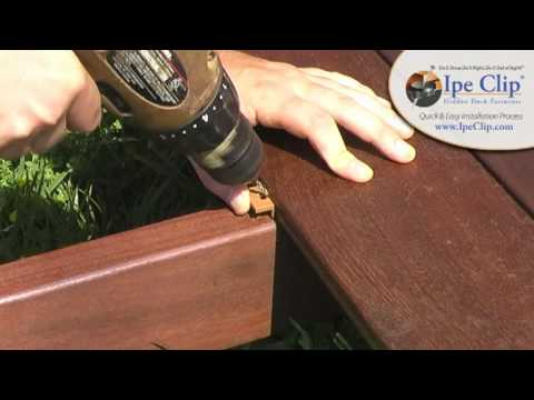 Ipe Clip® Hidden Deck Fastener Installation Instructions