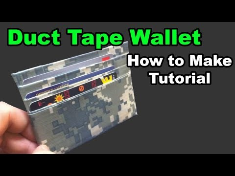 Minimal Duct Tape Wallet