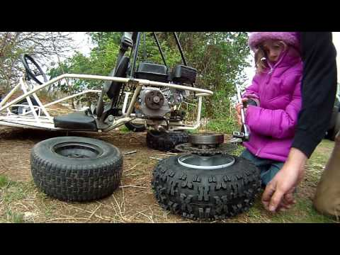 Go Kart Build - kids $40 kart gets new wheels