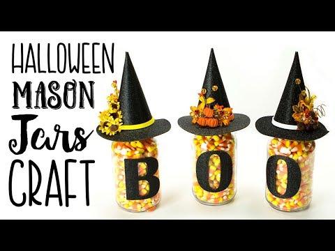 Halloween Mason Jars Craft (Easy)