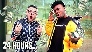WHO CAN SPEND $100,000 THE FASTEST!? P2istheName Vs MindofRez 24 HOUR CHALLENGE