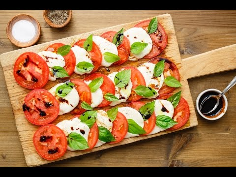 Caprese Salad with Balsamic Reduction (The best I have ever had)