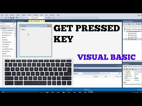 How To Add Keyboard Key Controls in Visual Basic (keypress Tutorial)