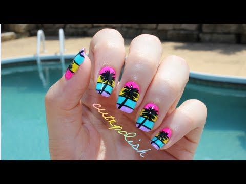 Video Of The Week: California Palm Tree And Green Salad Nail Art
