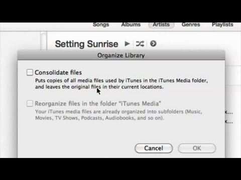 What Does Consolidate Library Mean in iTunes? : iTunes Help