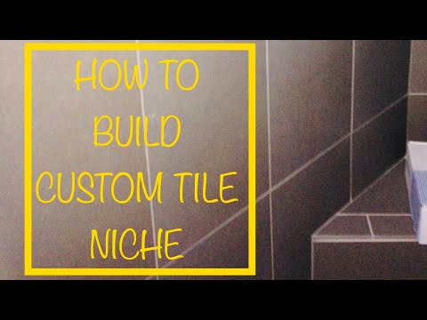 HOW TO MAKE A TILE NICHE OR SHELF OR INSET SHELF