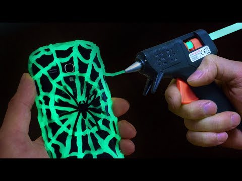 DIY Glow in the Dark Phone Case - Halloween