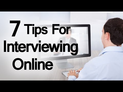 7 Tips For Interviewing Online | How To Conduct A Skype Interview | Web Interviews