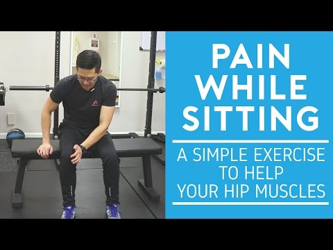 Pain while sitting: a simple exercise to help your hip muscles