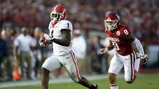 Sony Michel Game Winning touchdown against Oklahoma | 2018 Rose Bowl