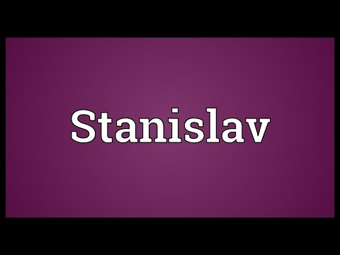Stanislav Meaning