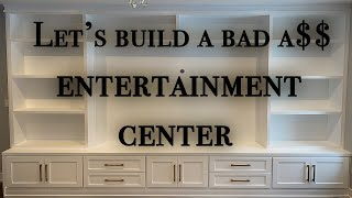Building the ULTIMATE Entertainment Center DIY woodworking (Step by Step)
