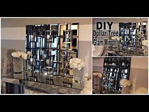 DIY | DOLLAR TREE GLAM MIRROR/SCONCE DECOR | DESIGNER INSPIRED