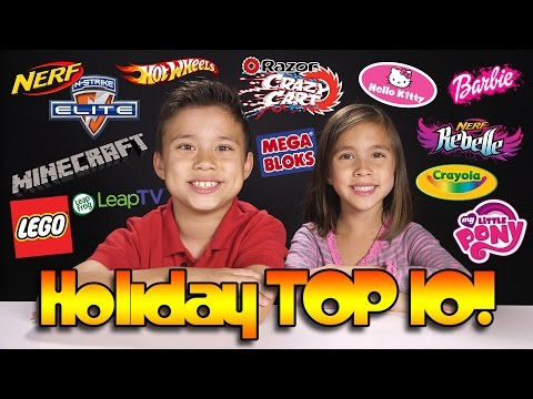 2014 HOLIDAY TOP 10 TOY WISH LIST!!! Lego, Minecraft, Nerf, My Little Pony, Crayola & MORE!
