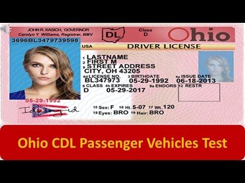 Ohio CDL Passenger Vehicles Test