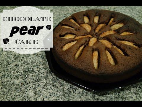 CHOCOLATE PEAR CAKE RECIPE | EM'S BAKING