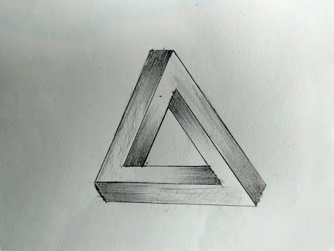 How To Draw an Optical Illusions The Impossible Triangle