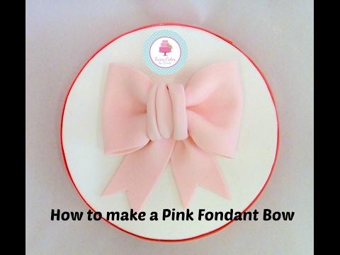 How to make a Pink Fondant / Sugarpaste Bow Tutorial - Ceri Badham