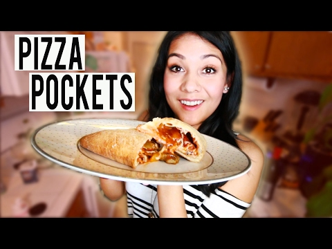 PIZZA POCKETS! Very authentic Italian cooking - #TastyTuesday