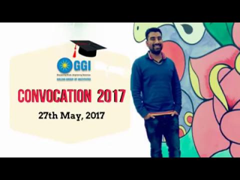 GGI Convocation Invitation on 27th May 2017